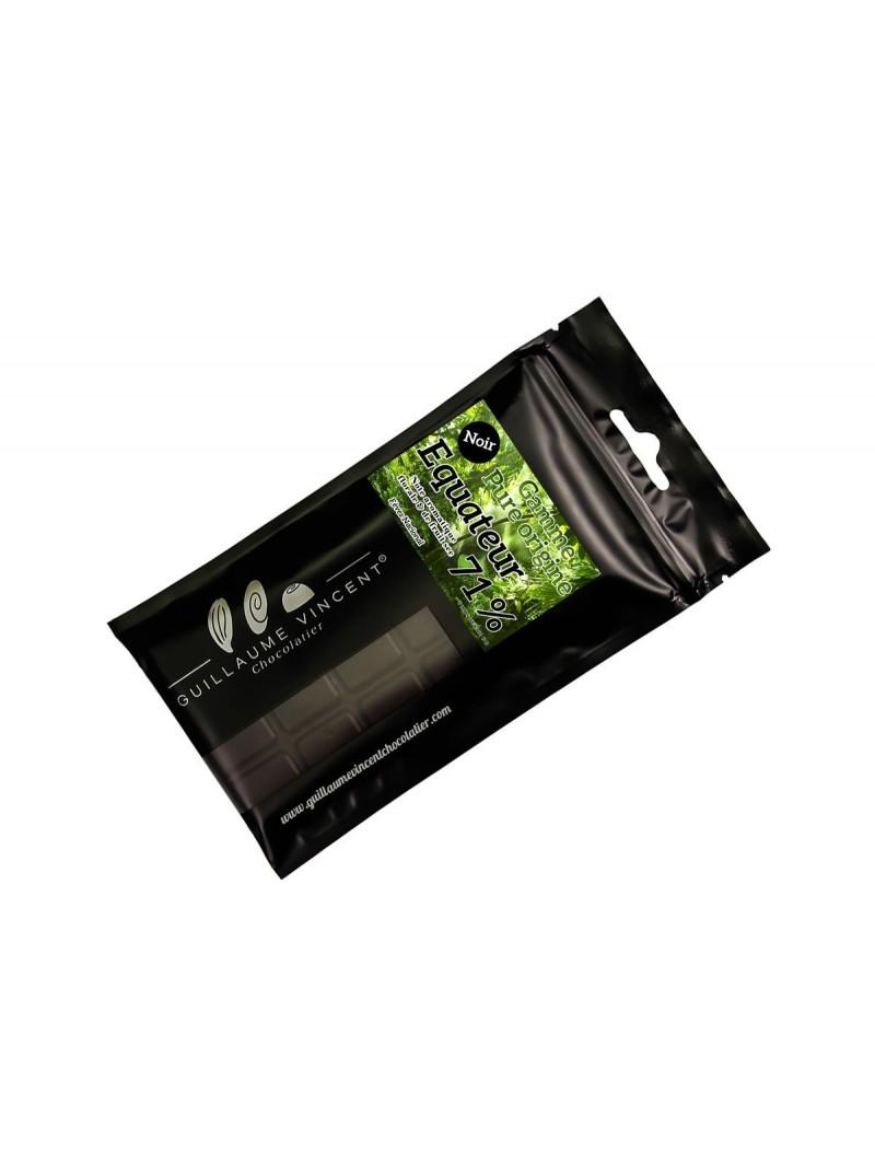Tablette au chocolat noir au cacao d'Equateur 71 %