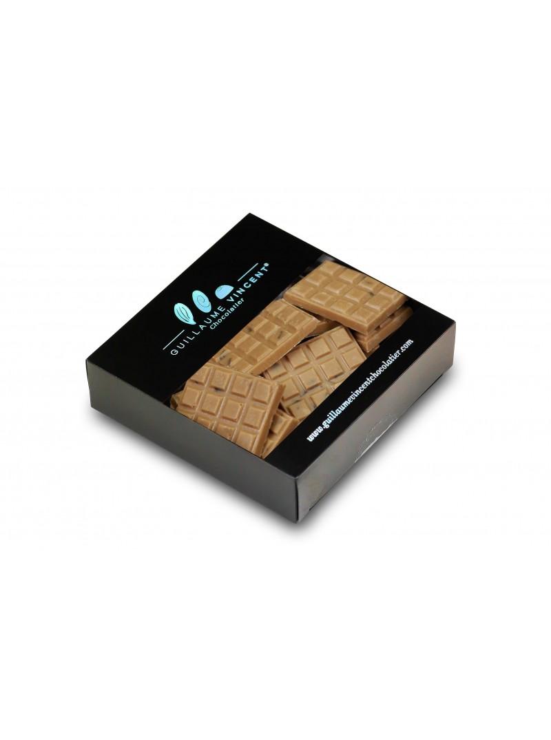 Mini tablette Lait Caramel et Pépite de jus de pomme