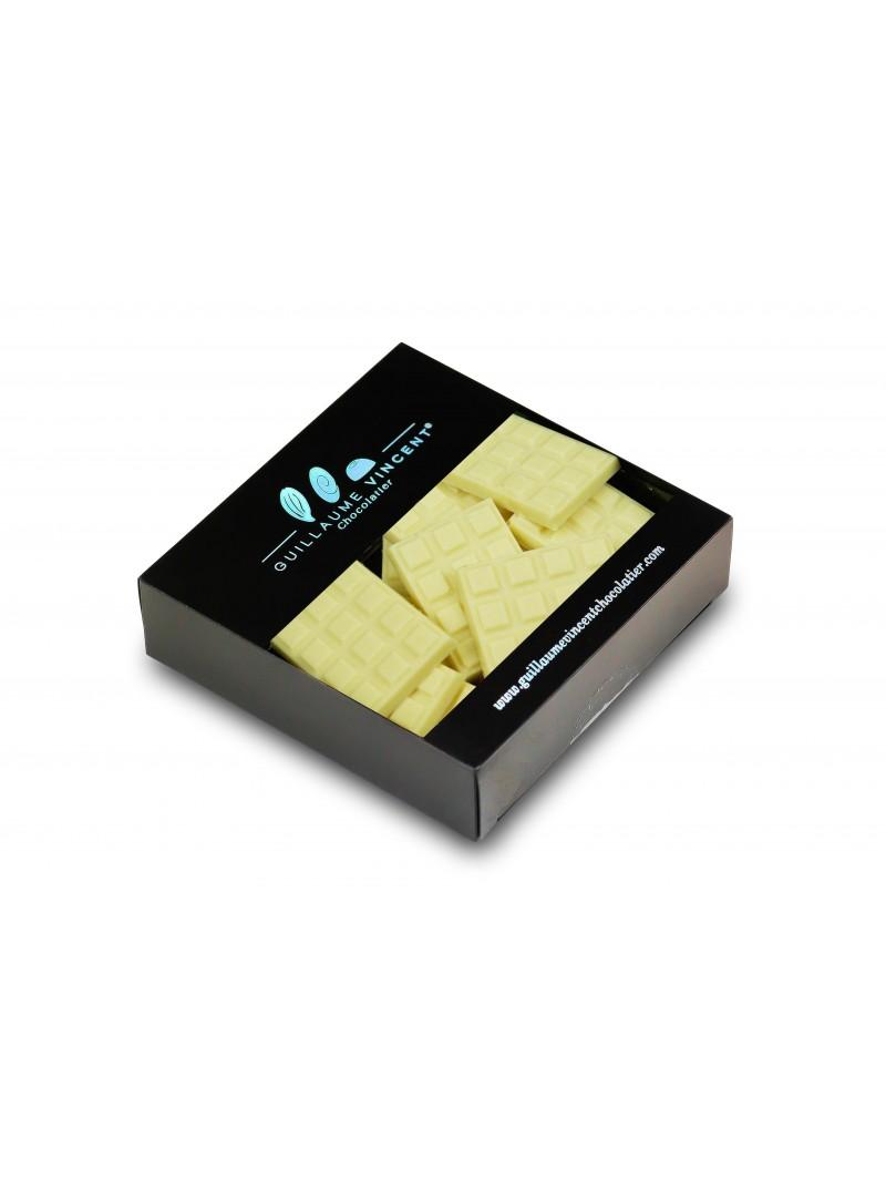 Mini tablette chocolat blanc,yagourt , sucre pétllant