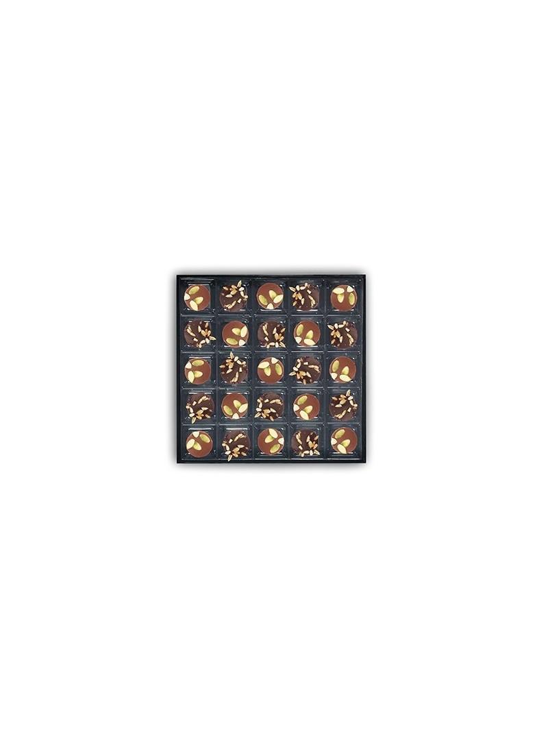 Coffret de 25 chocolats - graines de tournesol et de courge